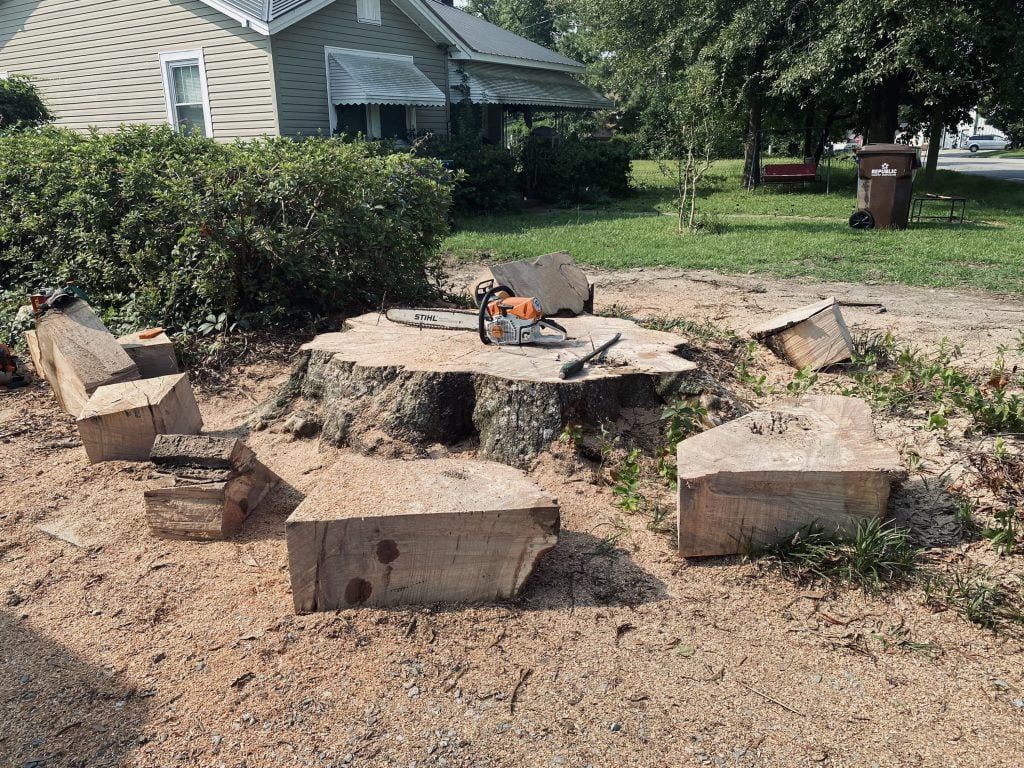 Harnett County Stump Grinding Project